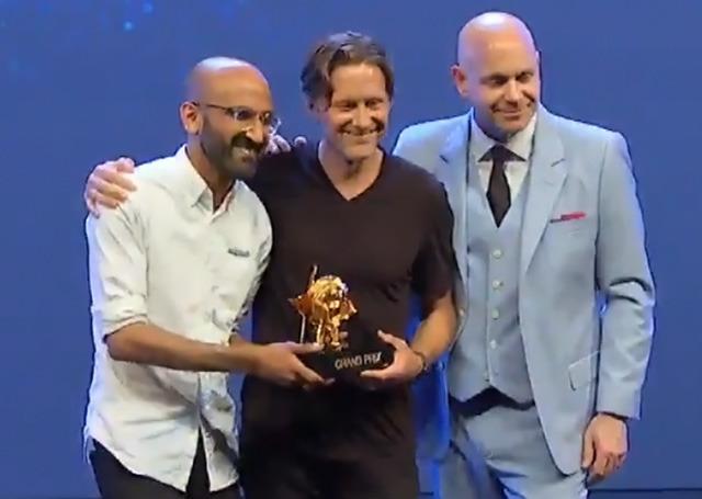 Apple's Hashem Bajwa (left), Karl Heiselman (middle)