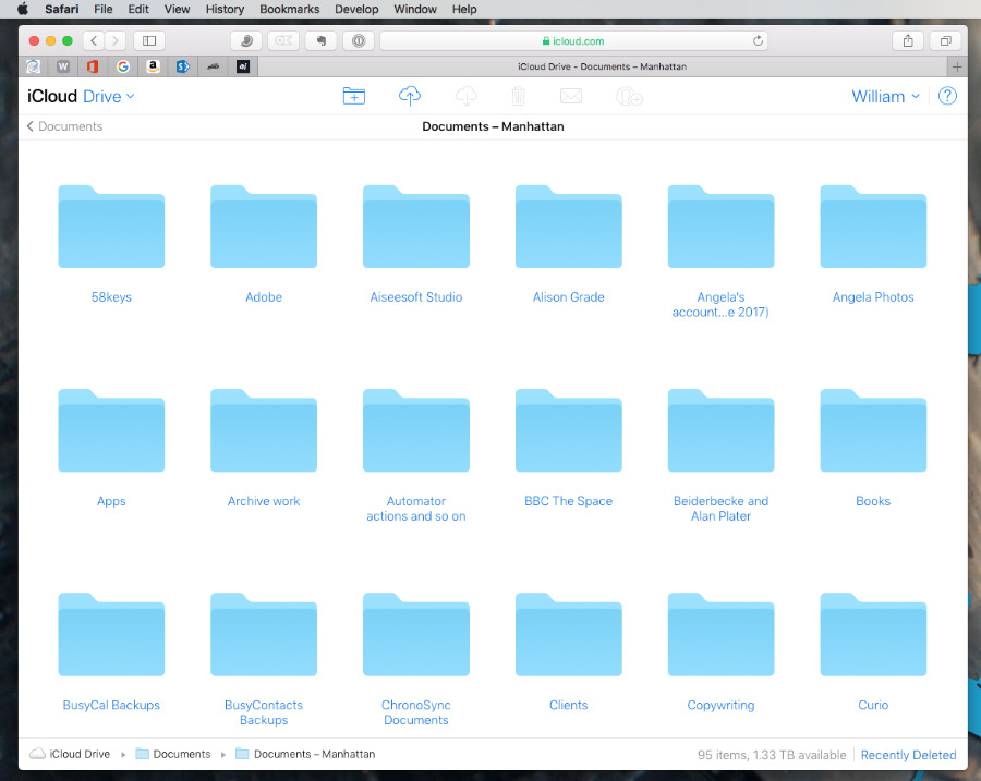 With iCloud's Desktop & Documents feature, you can have all your work with you on the holidays. Yay.