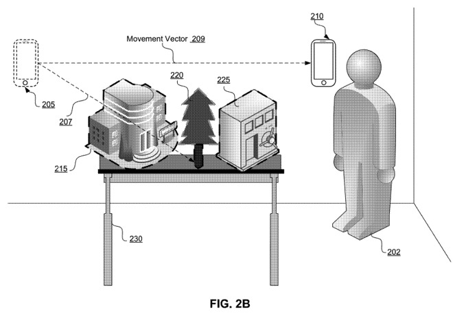 An image from the patent application explaining how AR maps could work