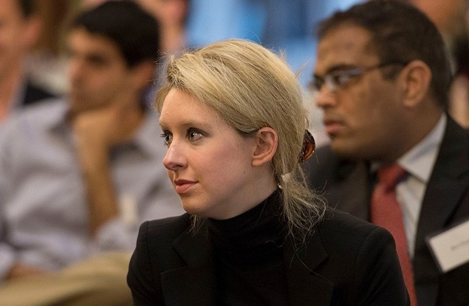 Elizabeth Holmes of Theranos even dressed like Steve Jobs