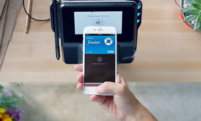 Apple Pay on an iPhone