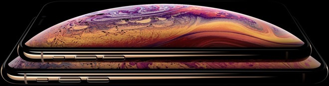 Detail from the infamously leaked iPhone XS and XS Max images