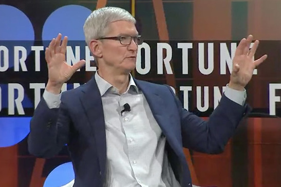 Tim Cook says it's never about the money at Apple