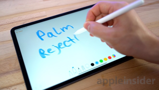 The Apple Pencil's palm rejection feature makes drawing and writing on a display much easier