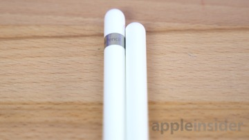 The Apple Pencil 2 is thinner with a flat side