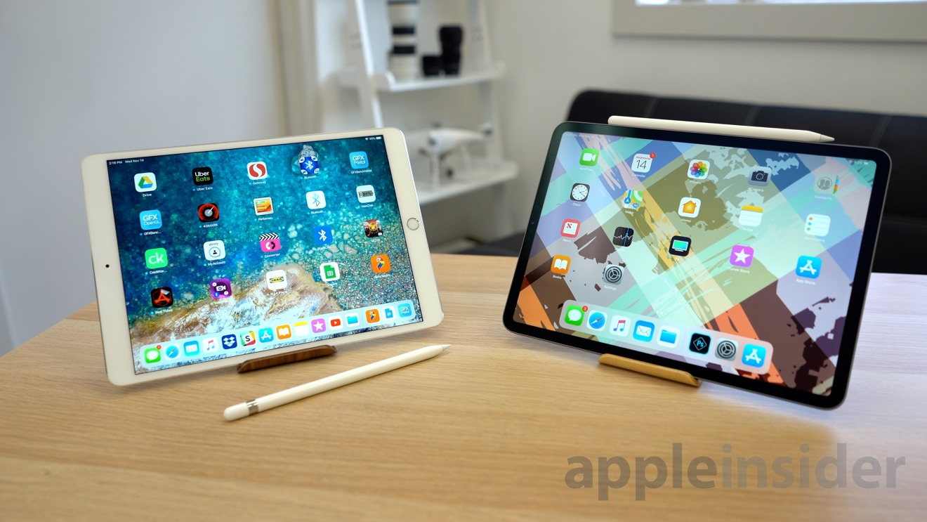 Older iPad Pro and Apple Pencil (left), Newer iPad Pro and Apple Pencil (right)