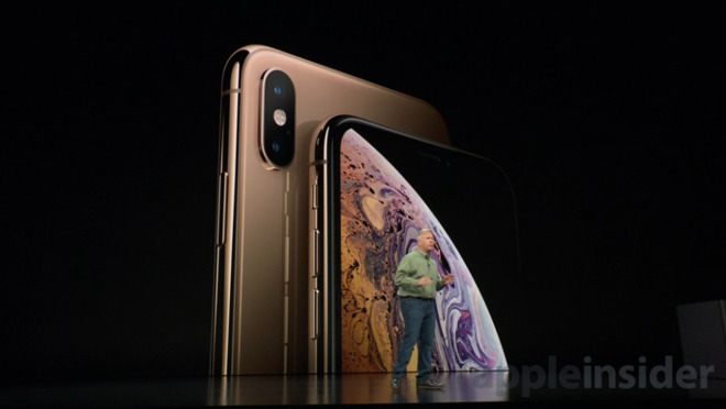 Apple's new iPhone XS (right) and XS Max (left)
