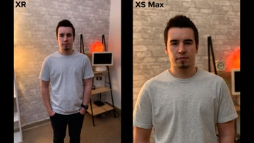 Low light comparison for iPhone XR and iPhone XS Max
