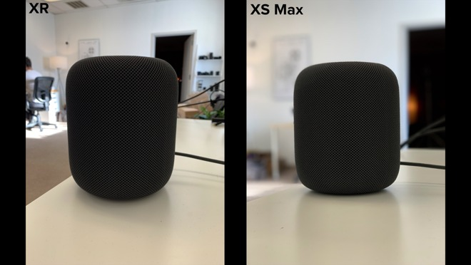 Attempted Portrait shots for the HomePod on the iPhone XR and iPhone XS Max