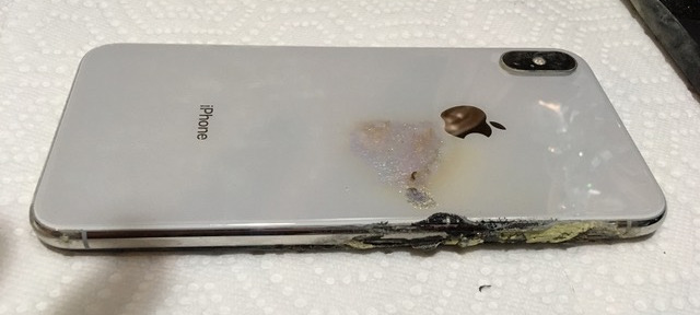 Rear of an exploded iPhone XS Max