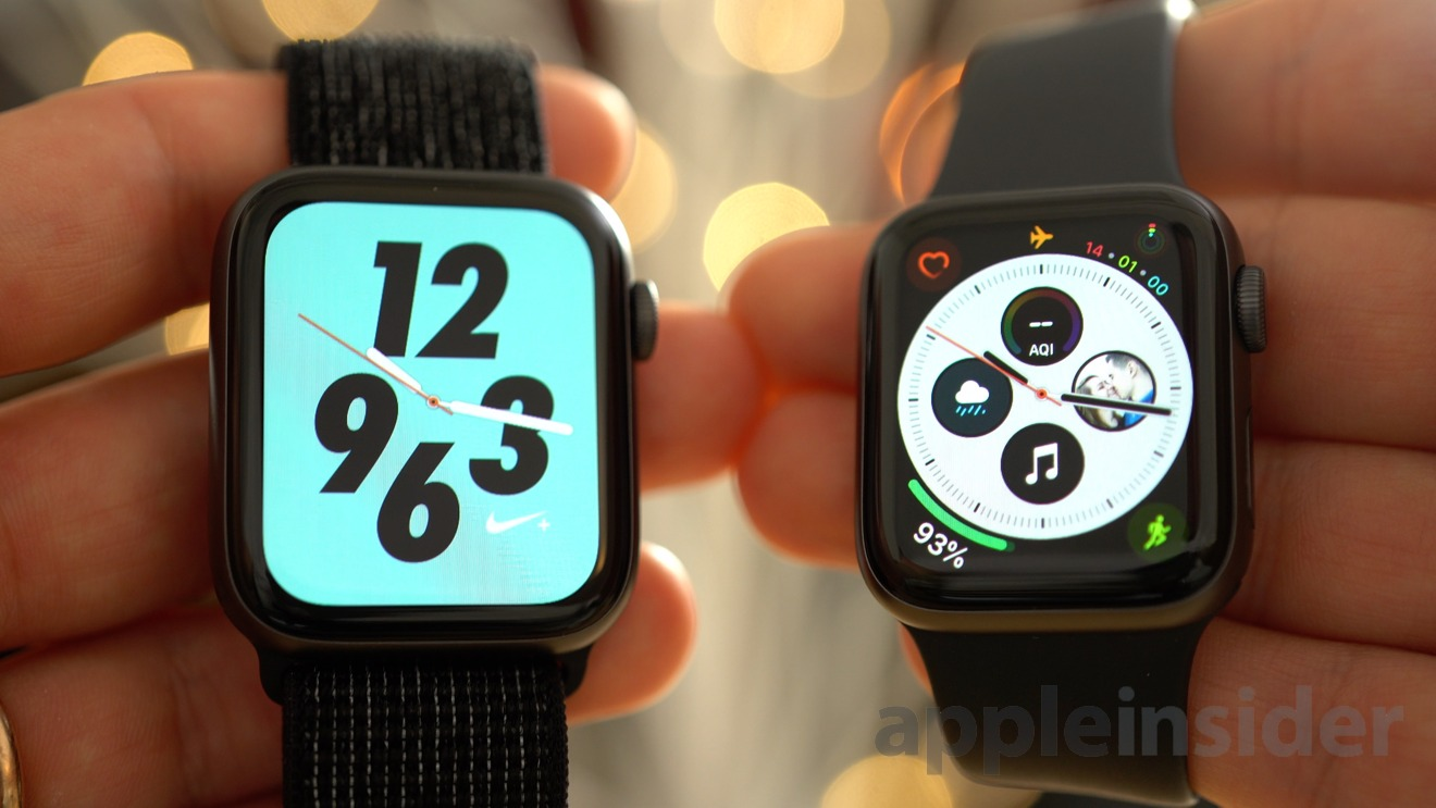 The Nike and Standard versions of the Apple Watch
