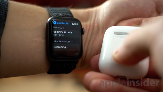 You can pair AirPods with an Apple Watch over Bluetooth
