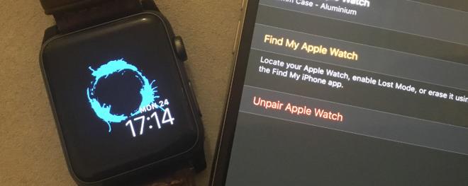 Unpairing your old Apple Watch