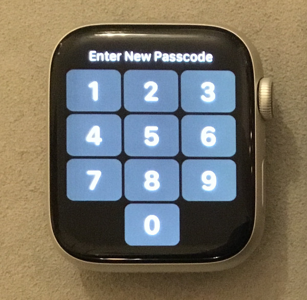 You'll need a passcode