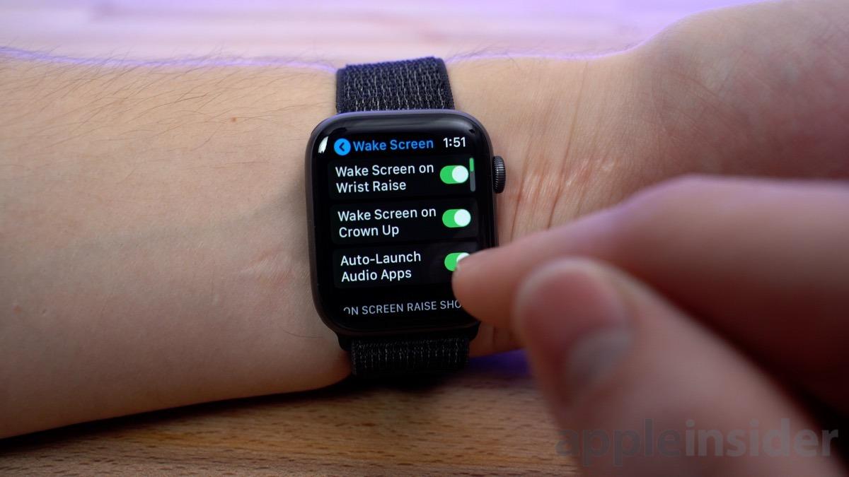 Apple Watch Wake settings