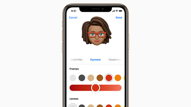 Memoji on iPhone XS