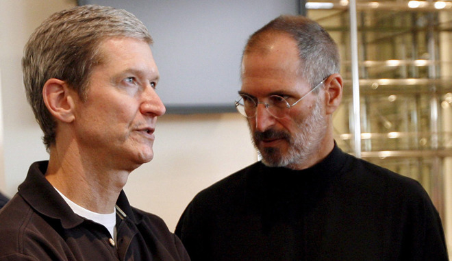 Tim Cook and Steve Jobs, in 2010