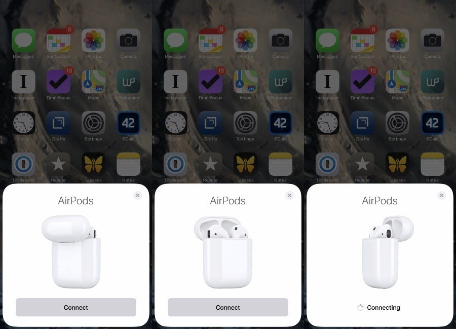 Connecting iPhone to AirPods for the first time