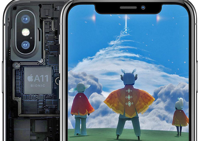 A11 Bionic processor in iPhone X