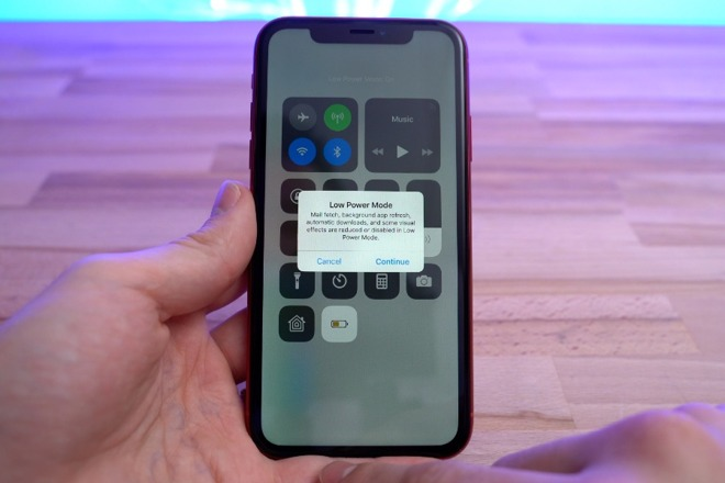 Setting up Low Power Mode in Control Center
