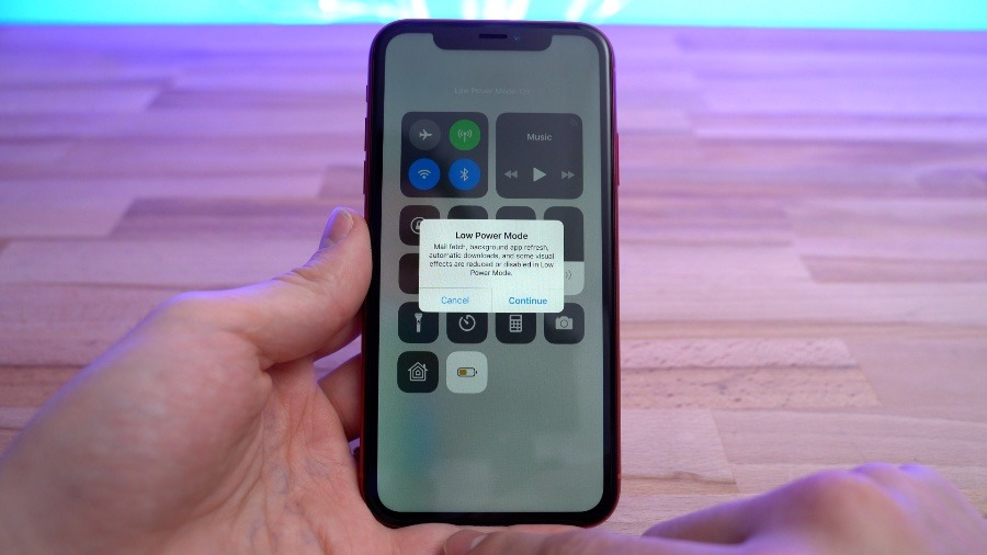 You can choose Low Power Mode whenever you need