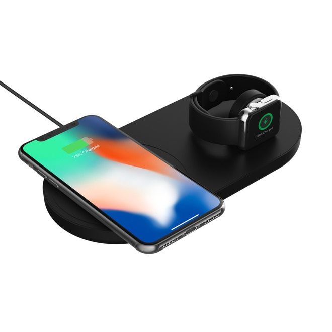 Griffin PowerBlock Fast Wireless Charging Pad with Apple Watch Dock
