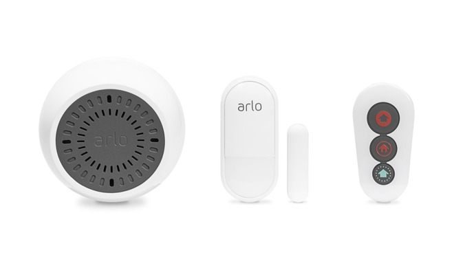 Arlo Siren, Sensor, & Remote (from left to right)