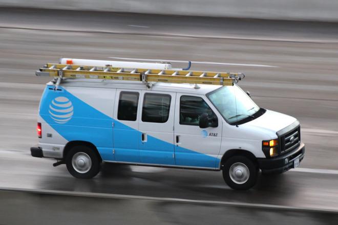 AT&T carrier van