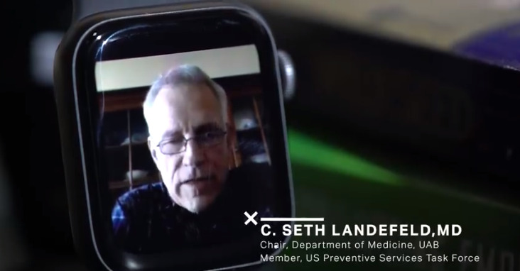 Dr Landefeld —  on an Apple Watch