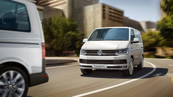 Volkswagen T6 Transporter, a van thought to be used in Apple's PAIL self-driving project
