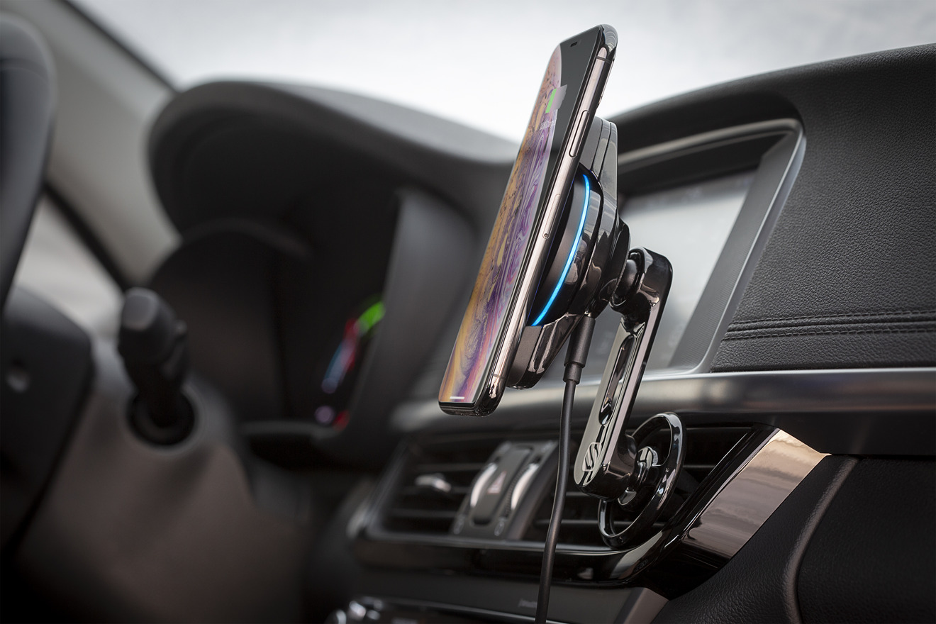 Scosche introduces trio of wireless charging mounts for the car and home