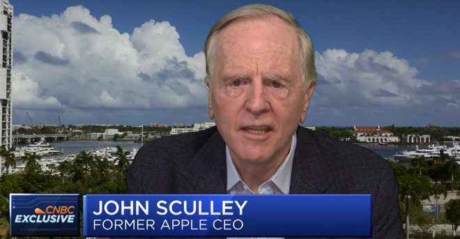 Former Apple CEO John Sculley speaking on CNBC