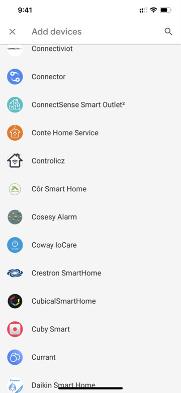 Pairing with Google means linking a Google account, and then finding it in the list of supported accessories