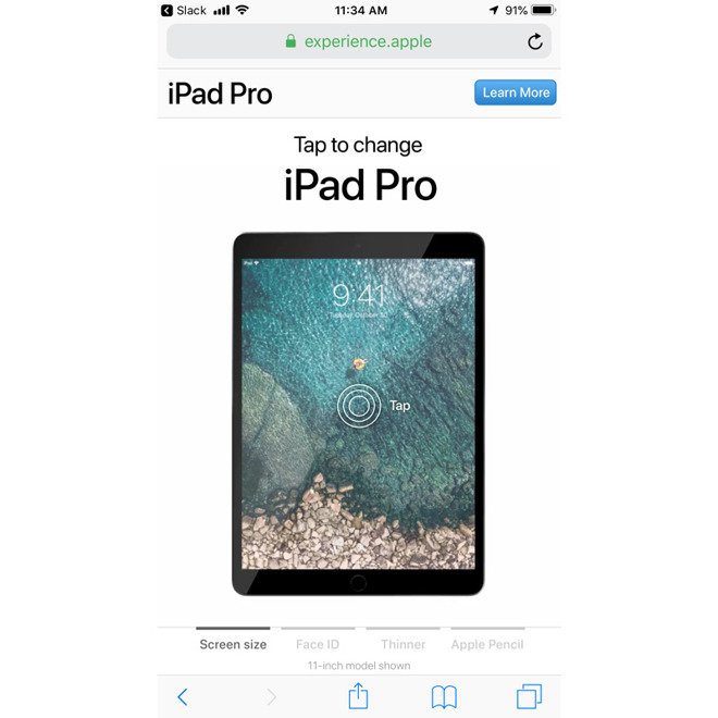 iPad Pro marketing page