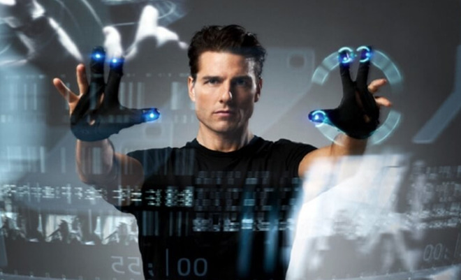 Minority Report, an iconic film featuring glove-based control of a computer system