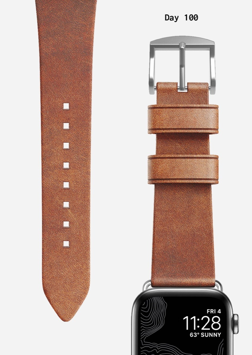 Nomad natural leather Apple Watch Modern Strap