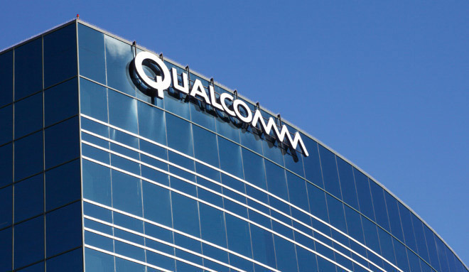 Qualcomm office building showing company logo