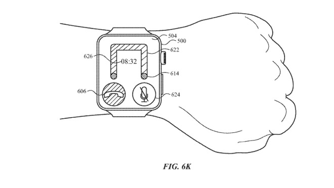 The two corner U-shaped path variant in the Apple Watch tilt control patent application