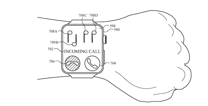 An example of the musical notes tilt-cue ringtone concept from the patent application