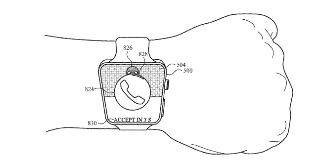 Tilting and holding could be used to answer and reject calls on the Apple Watch