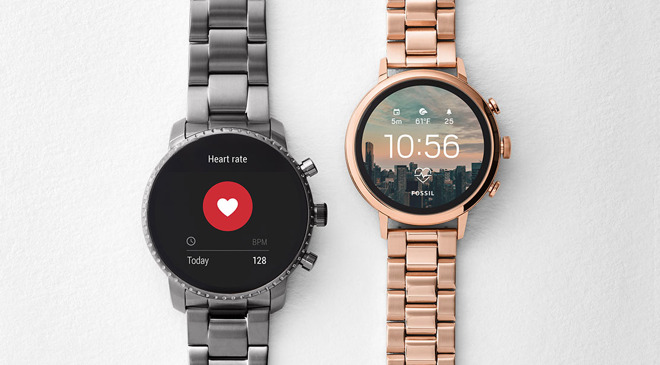 Fossil's smartwatches with heart rate tracking