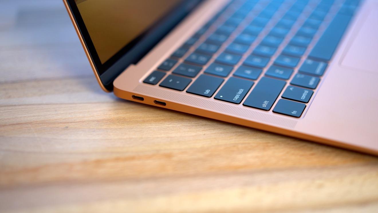 The 2018 MacBook Air's Thunderbolt 3 ports