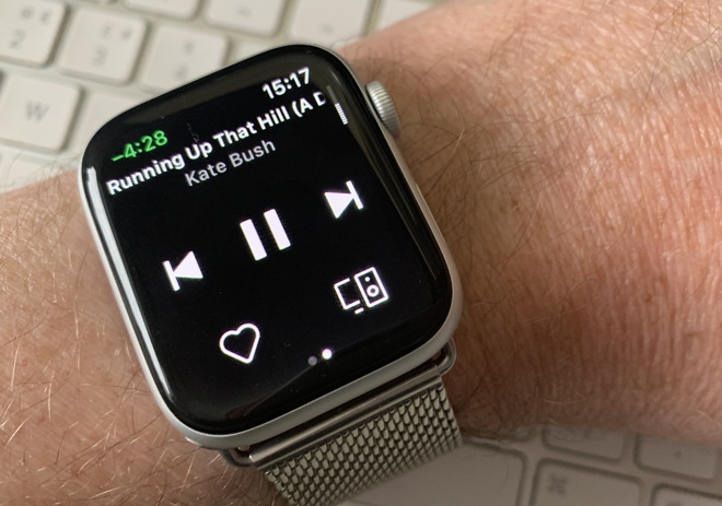 You can control Spotify on your Apple Watch -- but not play it there