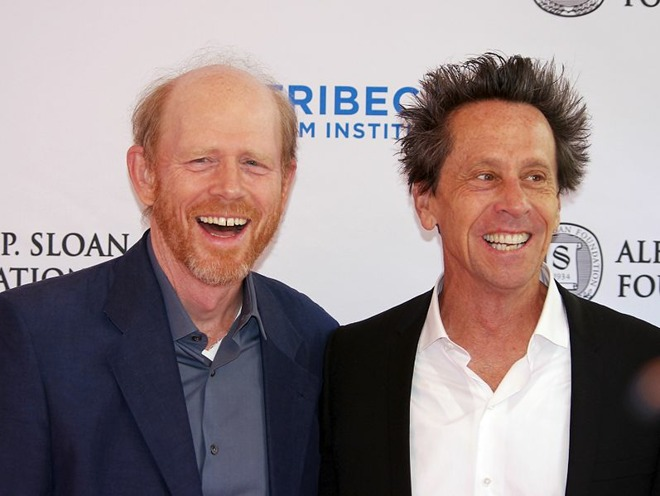Ron Howard (left) with Brian Grazer (via David Shankbone/Wikipedia)