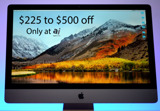 $225-$500 off Apple's iMac Pro with no tax in 48 states & 0% financing