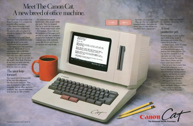 Ad for the Canon Cat (Source: Archive.org)