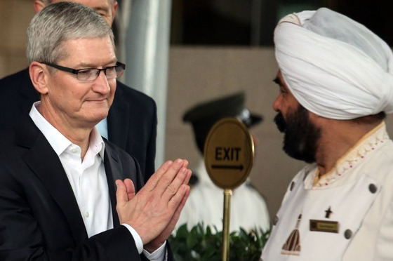 Tim Cook visiting India