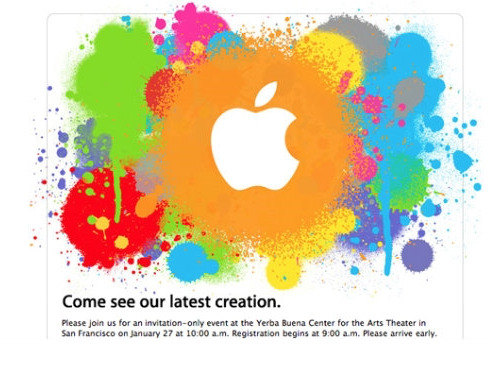 Apple's invitation to what would be the launch of the iPad