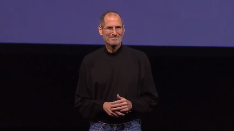 Steve Jobs on stage for the first time after his liver transplant operation