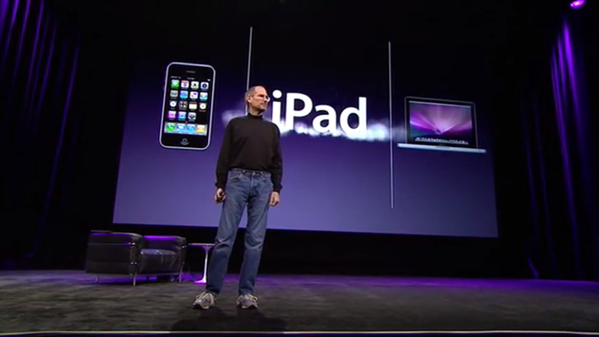 The first time we saw the word iPad